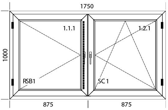 1750 x 1000 mm schema