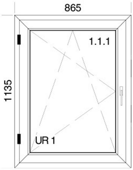 865 x 1135 mm schema