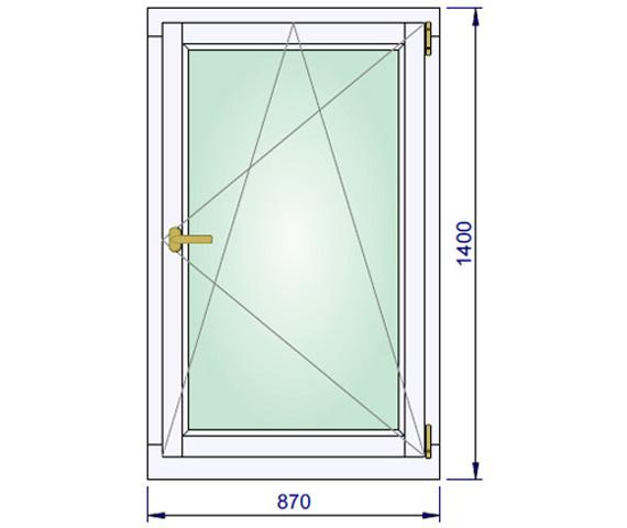870 x 1400 mm schema
