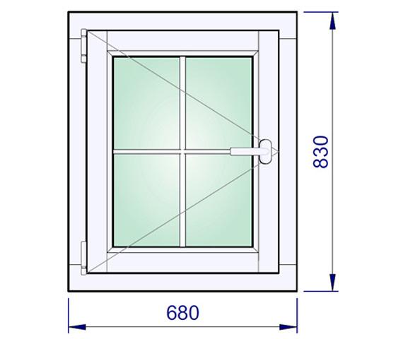 680 x 830 mm schema