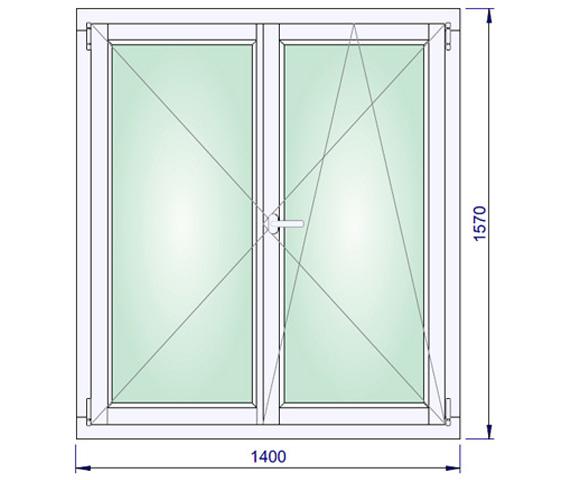 1400 x 1570 mm schema