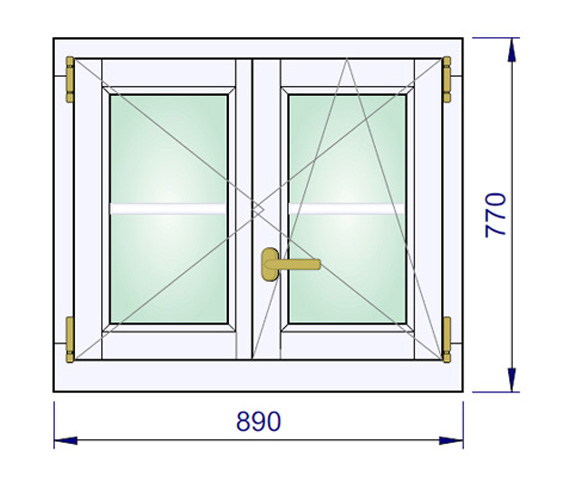 890 x 770 mm schema
