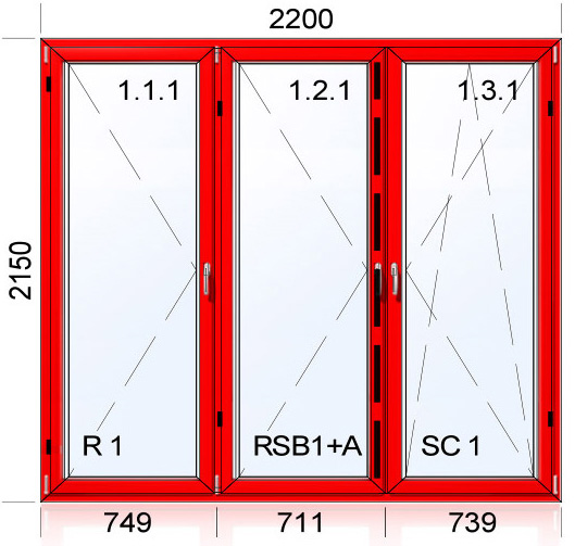 2200 x 2150 mm schema