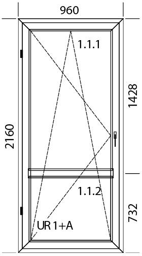 960 x 2160 mm schema
