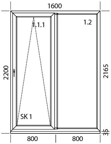 1600 x 2200 mm schema