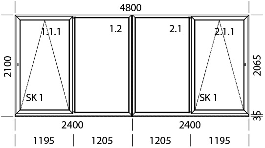 4200 x 2200 mm schema