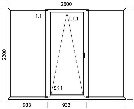 2800 x 2200 mm schema