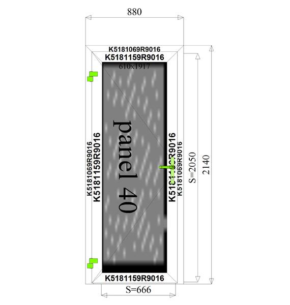 880 x 2140 mm schema