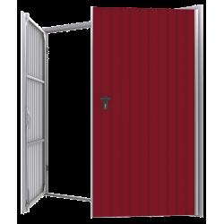 Stahl Garagentor Zweiflügelig - Breite: 250 cm x Höhe: 200-300 cm