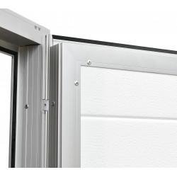 Aluminium Garagentor Zweiflügelig mit Paneel - 210 cm x 225 cm