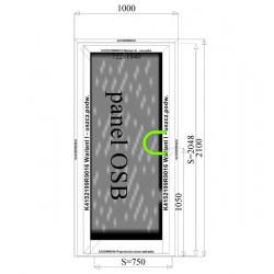 Aluminium Türen mit Platte OSB 1000 x 2100 mm MB-45