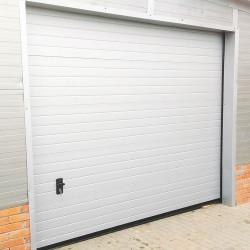 Sektional Garagentor 2500 x 2250 mm Brett Prägung Weiß RAL 9016