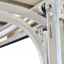 Sektional Garagentor 2550 x 2150 mm Brett Prägung Weiß RAL 9016