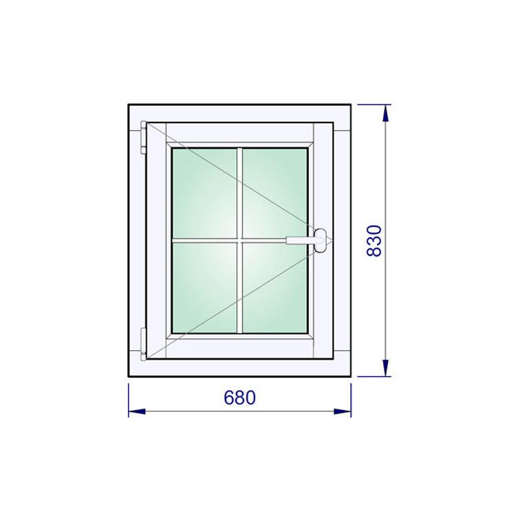 Holzfenster 680 x 830 mm Flügelfenster Kiefer
