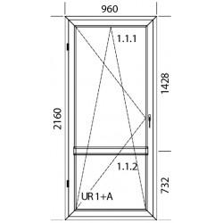 Konstoff Balkontür 960 x 2160 mm DREH/KIPP