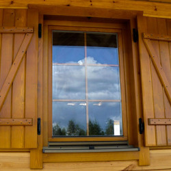 Holz balkontür 1800 x 2225 mm Doppelflügel Kiefer Calcink