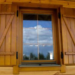 Holz balkontür 1800 x 2452 mm Doppelflügel Kiefer Calcink