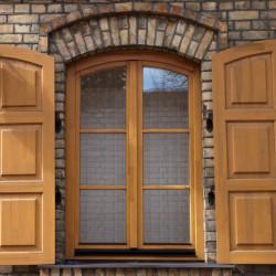 Holz balkontür 700 x 1875 mm Kiefer Calcink FIX