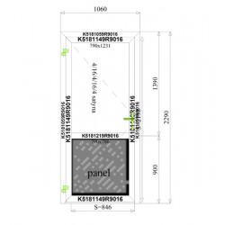 Aluminium Tür 1060 x 2290 mm Aluprof MB70