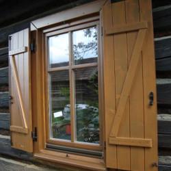 Holz Balkontüren mit Sprossen 1650 x 2370 mm Eiche DREH