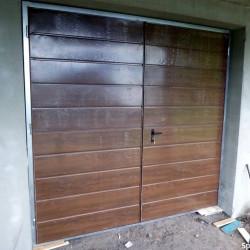 Stahl Garagentor Zweiflügelig - Breite: 200 cm x Höhe: 200-300 cm