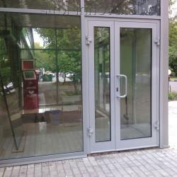 Aluminium Tür mit Platte Sicherheeitsglass 970 x 2080 mm MB-70