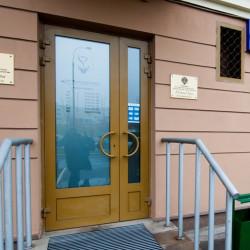Aluminium Tür mit Platte Sicherheeitsglass 1150 x 2100 mm MB-70