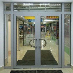 Aluminium Eineflügeliege Tür 1270 x 2200 mm MB-70