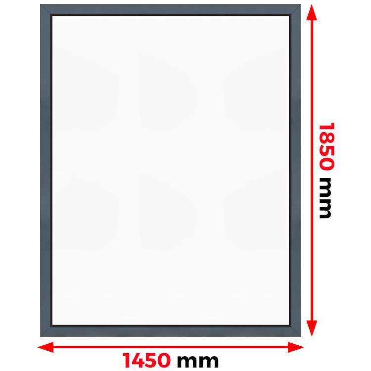 Aluminium Fenster Festverglasung 1450 x 1850 mm MB-45