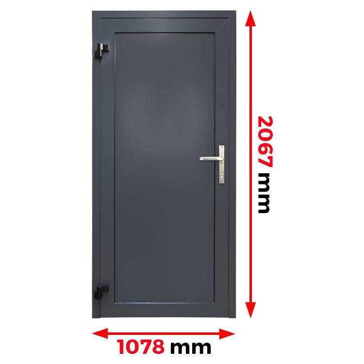 Aluminiumtür Panell 1078 x 2067 mm MB45