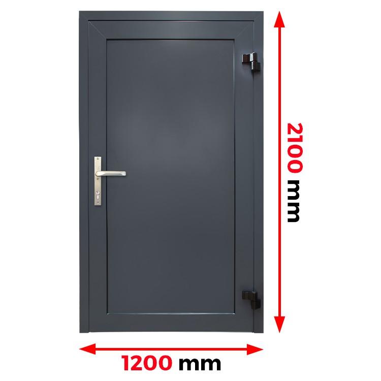Aluminiumtür Panell 1200 x 2100 mm MB70