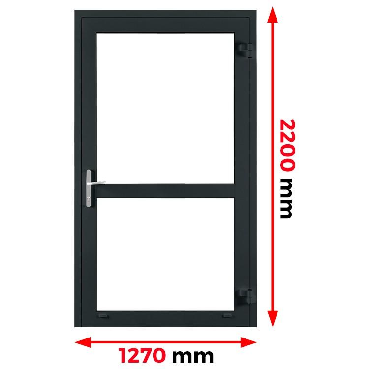 Aluminium Tür 1270 x 2200 mm Profil MB-70