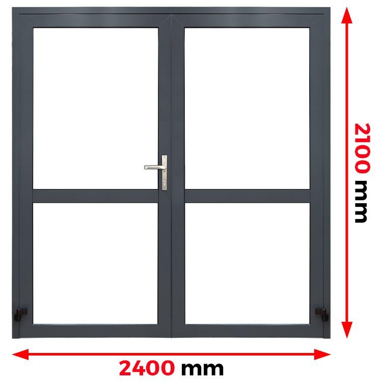 Aluminium Tür 2400 x 2100 mm Profil MB45