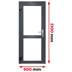 Aluminium Tür 900 x 2100 mm Aluprof MB70