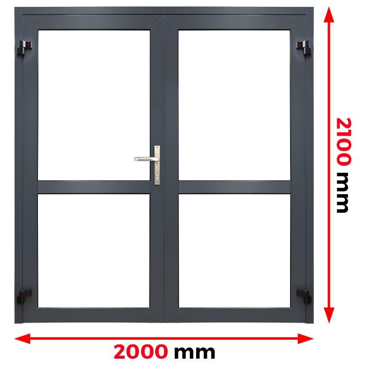 Aluminium Tür 2000 x 2100 mm profil MB70