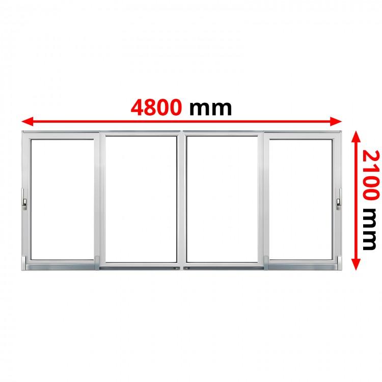 PSK Terassentür PVC 4800 x 2100 mm Schiebetür