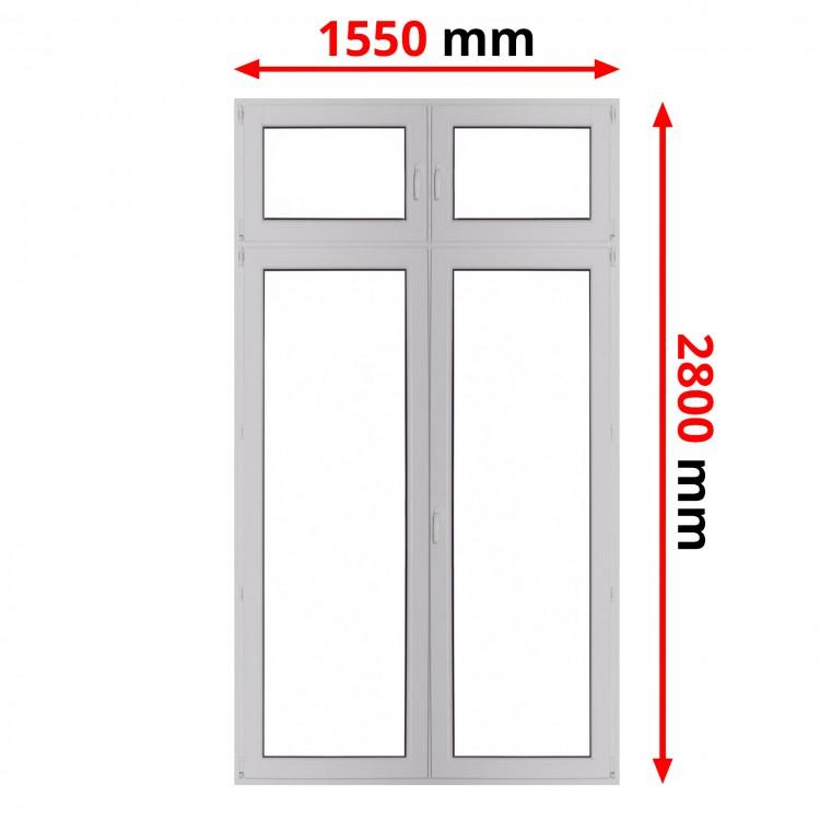 Konstoff Balkontür 1550 x 2800 mm DREH + DREH/KIPP mit Oberlicht