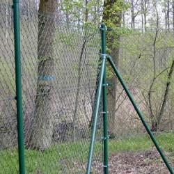 Gartenzaun Zaun Maschendrahtzaun - Braun
