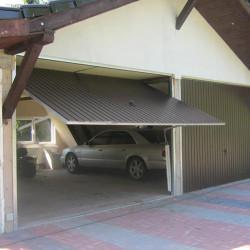 Stahl Garagentor Schwingtor - Breite: 220 cm x Höhe: 200-300 cm