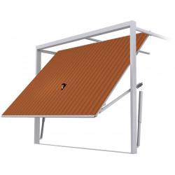 Stahl Garagentor Schwingtor - Breite: 240 cm x Höhe: 200-300 cm