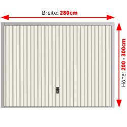 Stahl Garagentor Schwingtor - Breite: 280 cm x Höhe: 200-300 cm