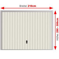 Stahl Garagentor Schwingtor - Breite: 210 cm x Höhe: 200-300 cm